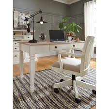Home Office Desks Wood Solid Wood Home Office Desk Chair In Finish By Signature
