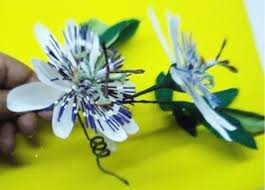 Rainforest Passion Flower - how to make paper flower passion flower passiflora caerulea