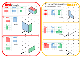 ks3 maths isometric and elevations worksheet by dcp20 teaching