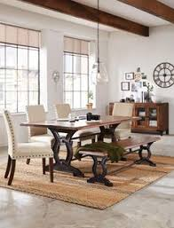 Art Van Kitchen Tables Cambria Trestle Dining Table Art Van Furniture Lets Move