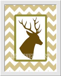 baby boy nursery decor deer antlers hunting brown green khaki