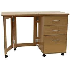 Rattan Computer Desk Flipp 3 Drawer Folding Office Storage Filing Desk Workstation