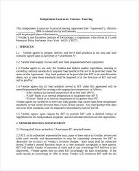 9 catering contract templates free sample example format