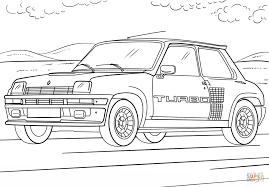 renault 5 turbo coloring free printable coloring pages