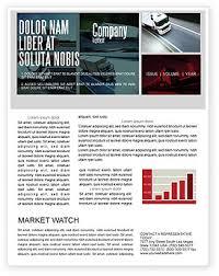 trailer trucks newsletter template for microsoft word u0026 adobe