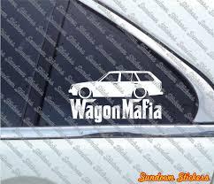 1982 Corolla Wagon Lowered Wagon Mafia Sticker For Toyota Corolla Ke70 Ae71