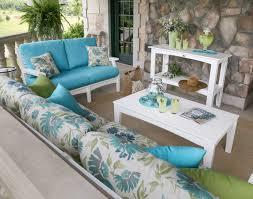 Polywood Sofa Poly Lumber 9 Piece Classic Terrace Deep Seating Set W Sunbrella