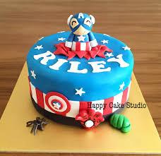 captain america cake topper happy cake studio
