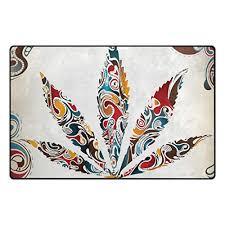 my daily vintage marijuana leaf of cannabis tribal pattern area