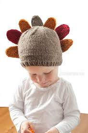 thanksgiving turkey hat knitting pattern for babies and