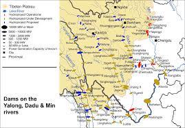 China River Map by Yalong Dadu U0026 Min Rivers Meltdown In Tibet