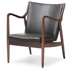 Retro Accent Chair Shakespeare Mid Century Modern Retro Faux Leather Upholstered