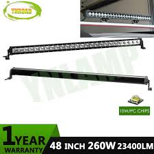 48 inch led light bar ynroad 260w 48inch single row led light bar work light driving