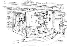 Interior Design Sketches Interior Architecture Drawing