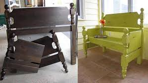 Bed Frame Bench Two Awesome Ideas For Repurposing Wood Bed Frames