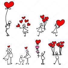 imagenes de amor con muñecos animados amor dibujos animados dibujados a mano vector de stock