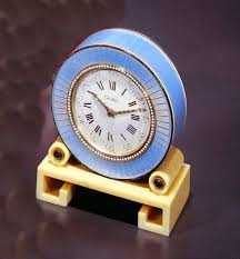 eloise moorehead antique cartier table clock from the london