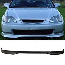 2000 honda civic spoiler amazon com front bumper lip fits 1999 2000 honda civic t r