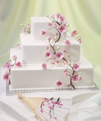 instead of a cake you could do cupcakes cherry blossom theme