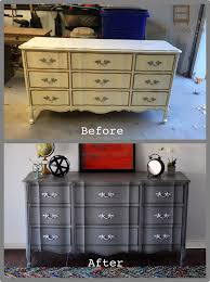 Painted Bedroom Furniture Before And After by Best 25 Chalk Paint Dresser Ideas On Pinterest Used Dressers