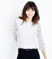 sleeve lace blouse s lace tops lace sleeve crop tops look