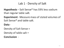 density of table salt intro chem grading and class policy handout book introductory