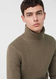 mens turtleneck sweater mango s sweaters turtleneck sweater by mango s khaki 47 35