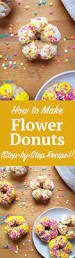how to make flower shaped baked donuts step by step recipe