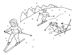 free winter coloring pages ice skating winter coloring pages of