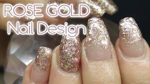 rose gold nail art design featuring my rose gold mix and