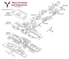 Maps Colorado Springs by Cos Airport Map Cos Terminal Map
