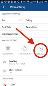 Map My Ride App Auto Pause U2013 Mapmyfitness Help U0026 Support