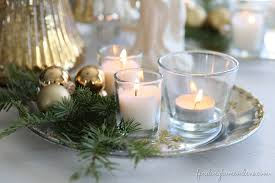 home decor with candles christmas decorating silver gold candle plate finding home farms