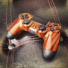 custom wood grain ds4 gaming