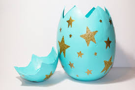 easter egg paper mache mache egg gift box idea hobbycraft
