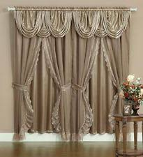 Washing Curtains With Backing Lace Window Curtains Ebay