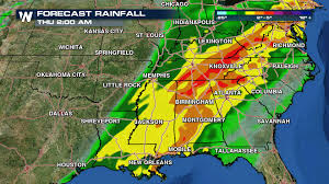 Dallas Weather Map by Beneficial Rainfall Already Felt Across Parts Of South Weathernation