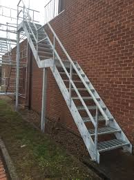 Galvanised Handrail Steel Stairs Morris Fabrications Ltd Architectural Metalworkers