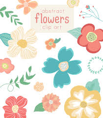flower clip flower vector clip abstract flowers