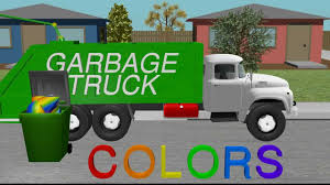 color garbage truck learning kids