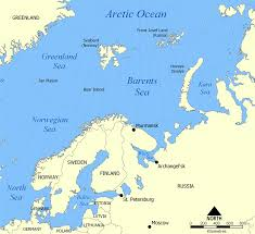 Alaska And Russia Map by Barents Sea Wikipedia