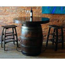 Barrel Bistro Table Bistro Coffee Table Metal Top Bistro Wine Barrel Table Barrel