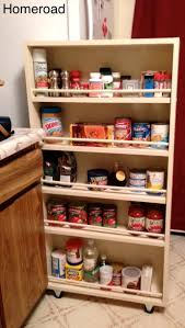 Bookcase Pantry Diy Slide Out Pantry Kitchen Storage Hometalk