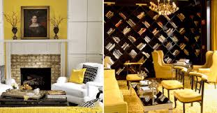 Modern Interior Decorating with Yellow Color Cheerful Interior
