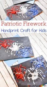 patriotic firework handprint craft to celebrate the 4th of july