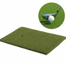 indoor backyard golf mat training hitting pad practice rubber tee