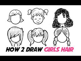 how to draw girls hair in different cartoon styles youtube