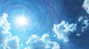 sun rays and clouds animation