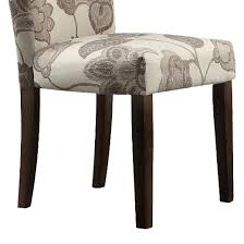 quinby parson floral dining chair wood gray set of 2 inspire q