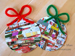How To Make Homemade Ornaments by Celebrate Homemade For The Holidays Recycled Paper Ornaments